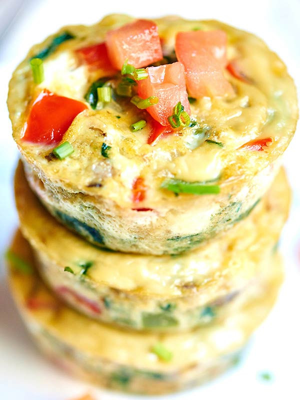 Healthy Breakfast Egg Muffins  Healthy Egg Muffin Cups ly 50 Calories Loaded w