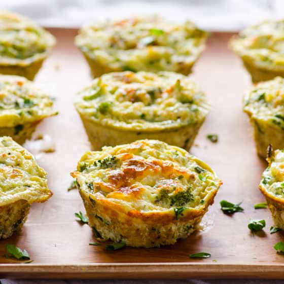 Healthy Breakfast Egg Muffins  ≧Quinoa Egg Muffins •̀ •́ with with Broccoli us25
