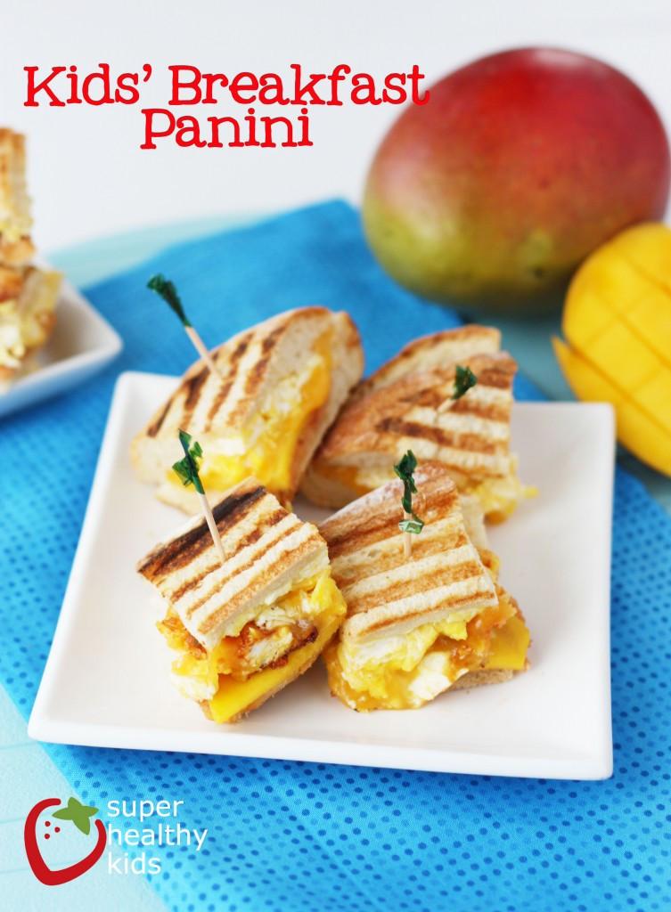 Healthy Breakfast Foods For Kids  Breakfast Panini Recipe Healthy Ideas for Kids