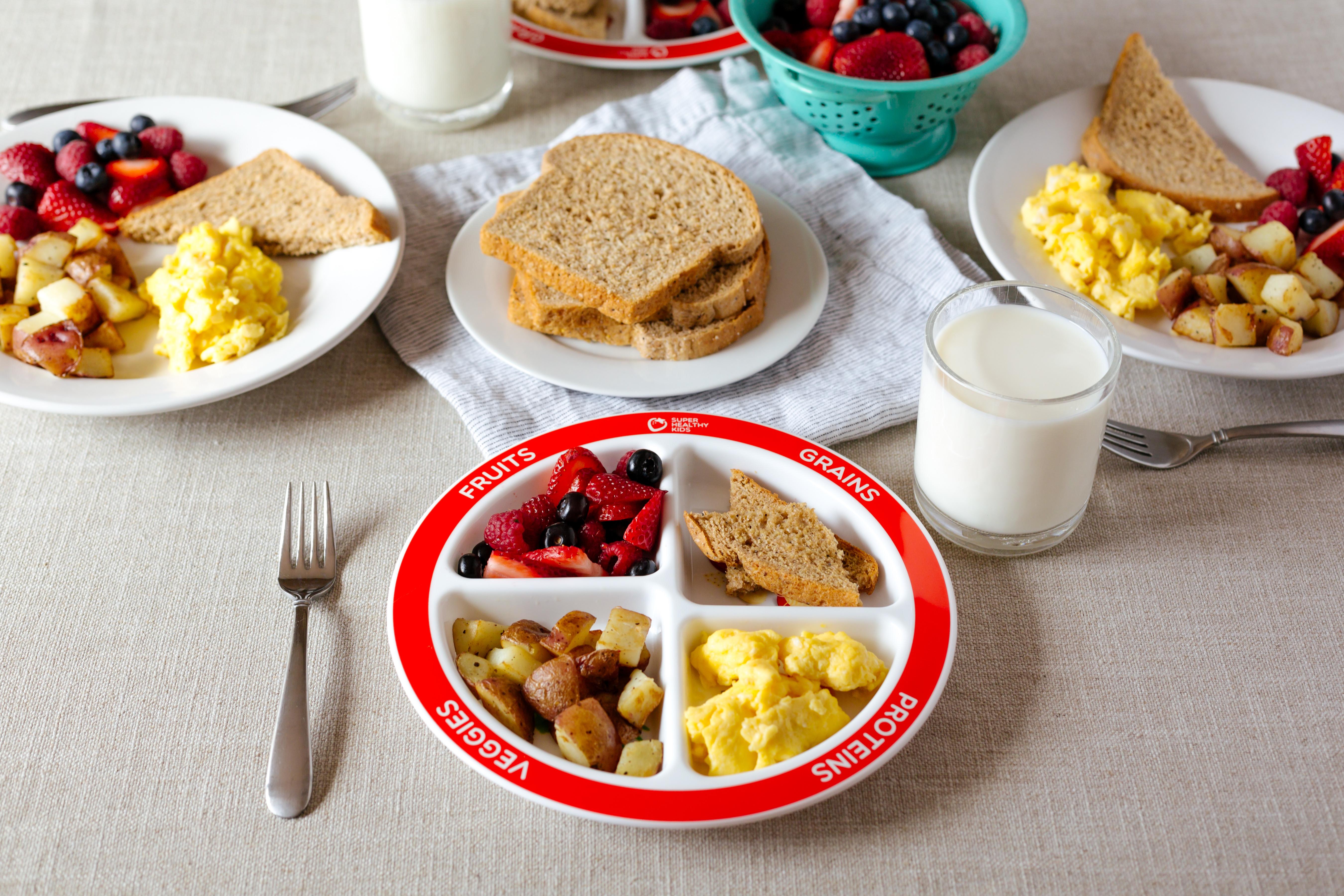 Healthy Breakfast Foods For Kids  Healthy Balanced Breakfast with MyPlate