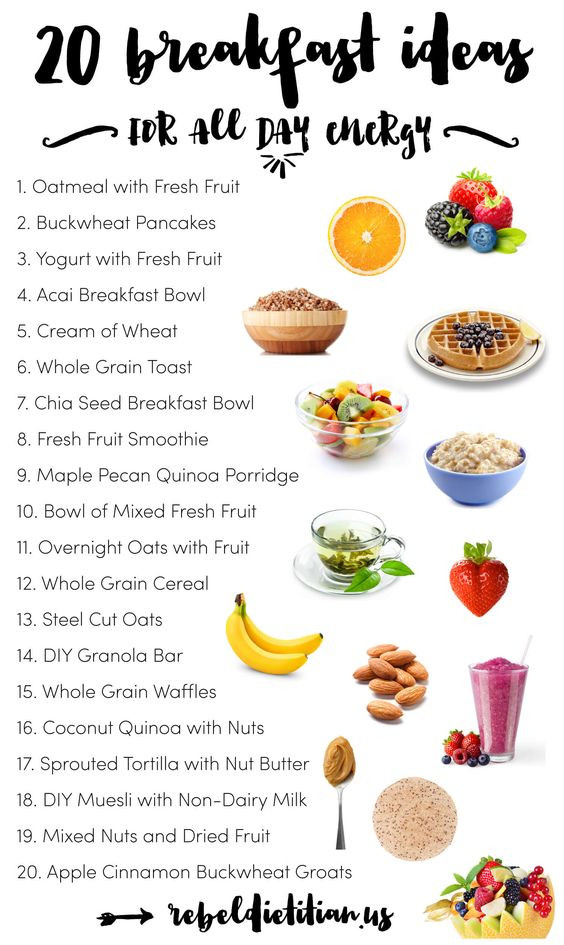 Healthy Breakfast Foods List  20 Clean Eating Breakfast Ideas for all day energy