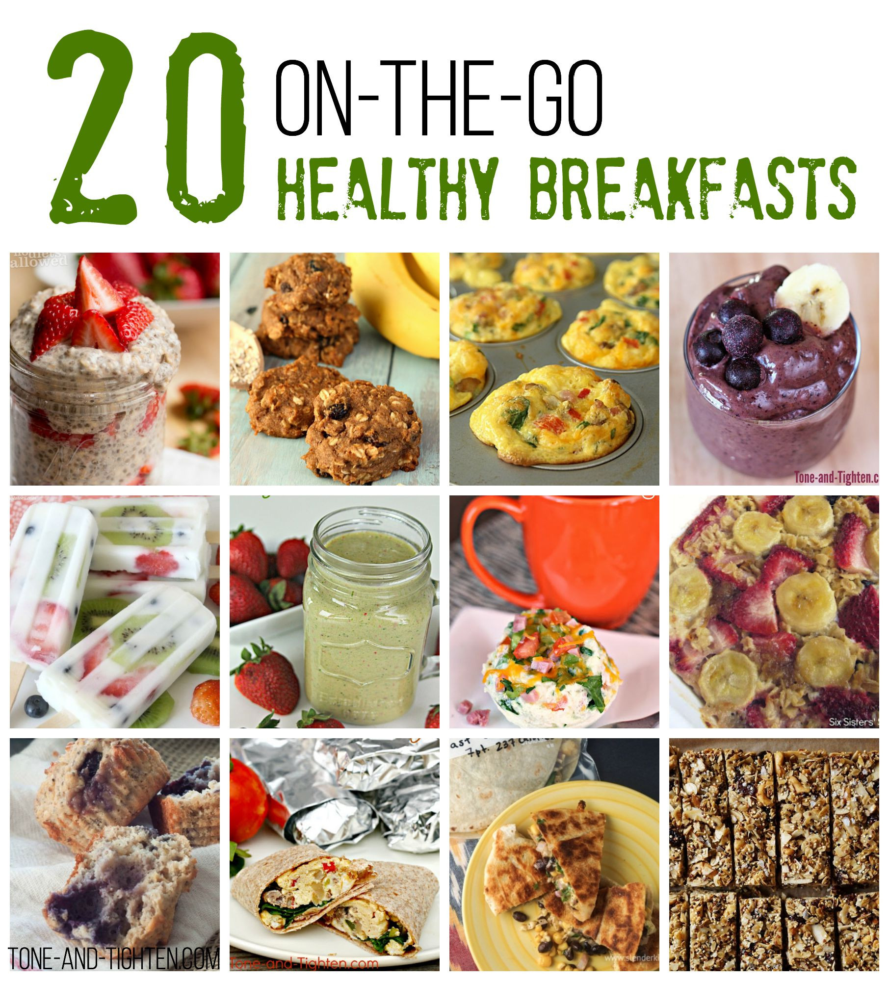 Healthy Breakfast Foods On The Go  20 The Go Healthy Breakfast Recipes