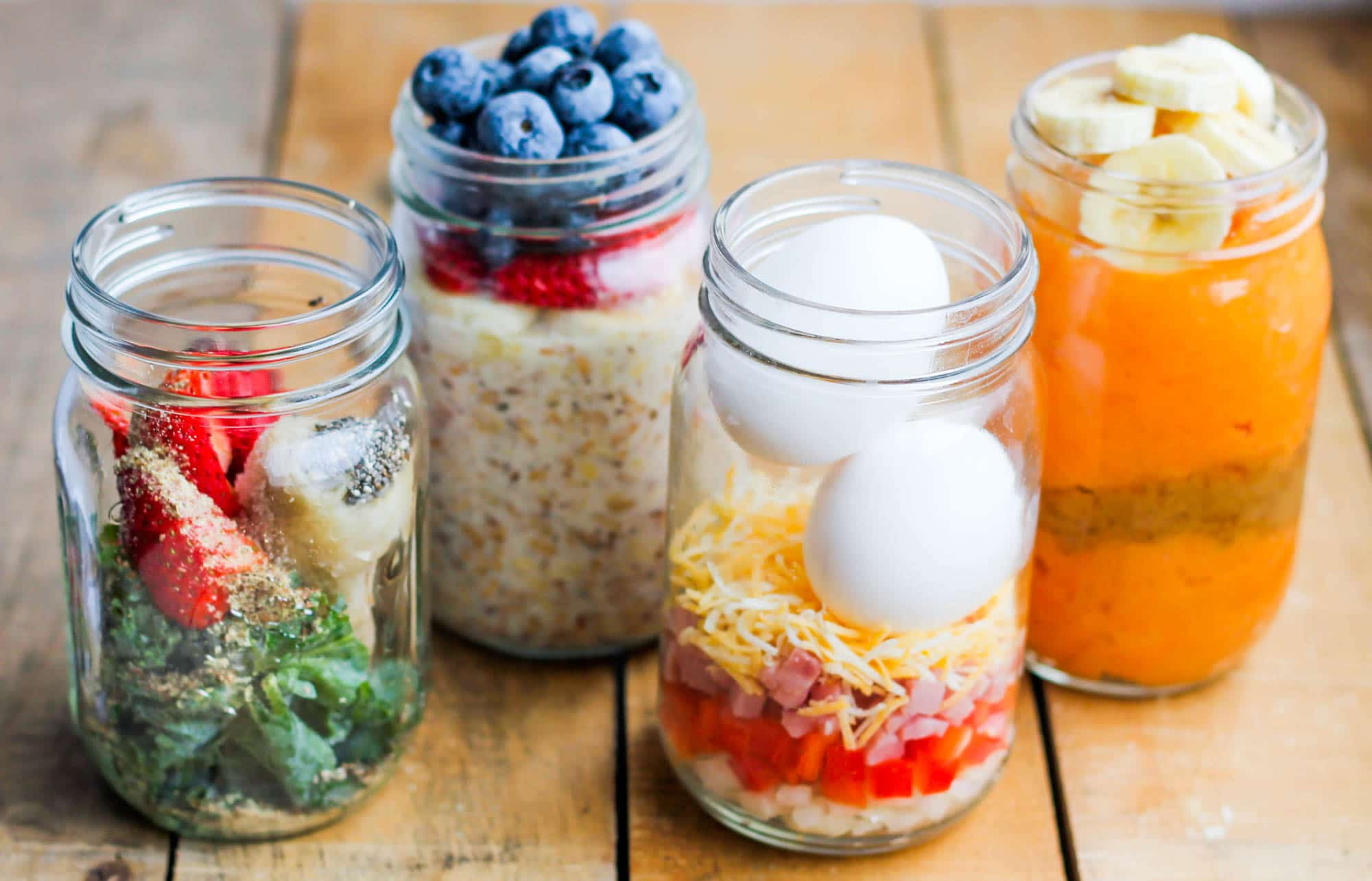 Healthy Breakfast Foods On The Go  Make Ahead Healthy Breakfast Meal Prep Jars 4 Ways