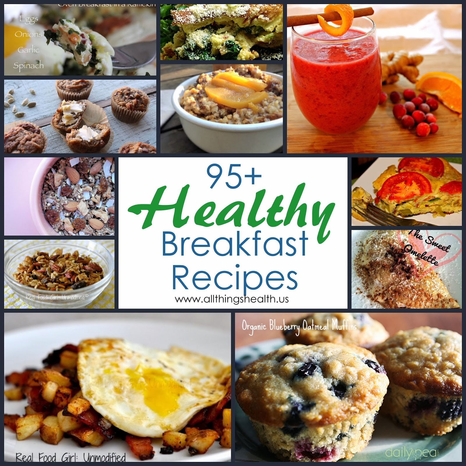 Healthy Breakfast Foods  All Things Health 95 Healthy Breakfast Recipes