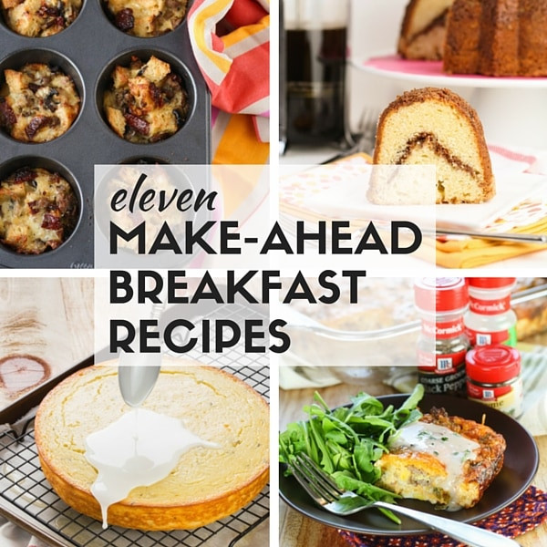 Healthy Breakfast For A Crowd  Make Ahead Breakfast Recipes for a Crowd Garnish with Lemon