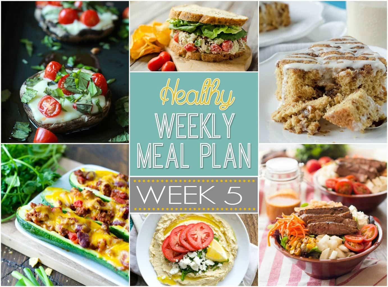 Healthy Breakfast For A Week  Healthy Weekly Meal Plan 5 Yummy Healthy Easy