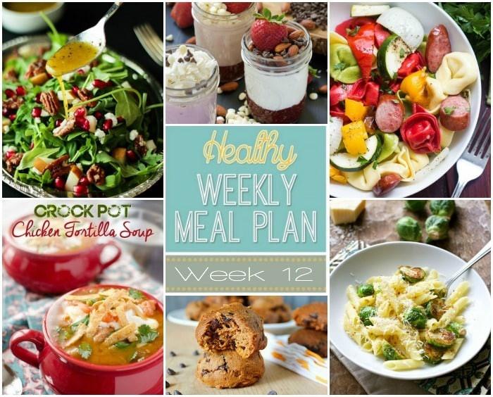 Healthy Breakfast For A Week  Healthy Meal Plan Week 12
