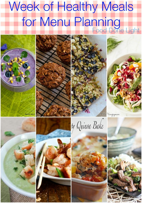 Healthy Breakfast For A Week  Week of Healthy Recipes for Meal Planning