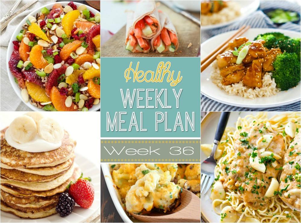 Healthy Breakfast For A Week  Healthy Weekly Meal Plan Week 36