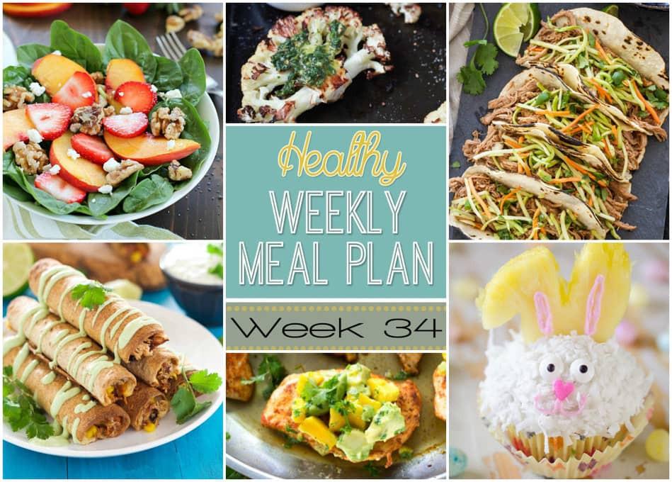 Healthy Breakfast For A Week  Healthy Weekly Meal Plan 34 Yummy Healthy Easy