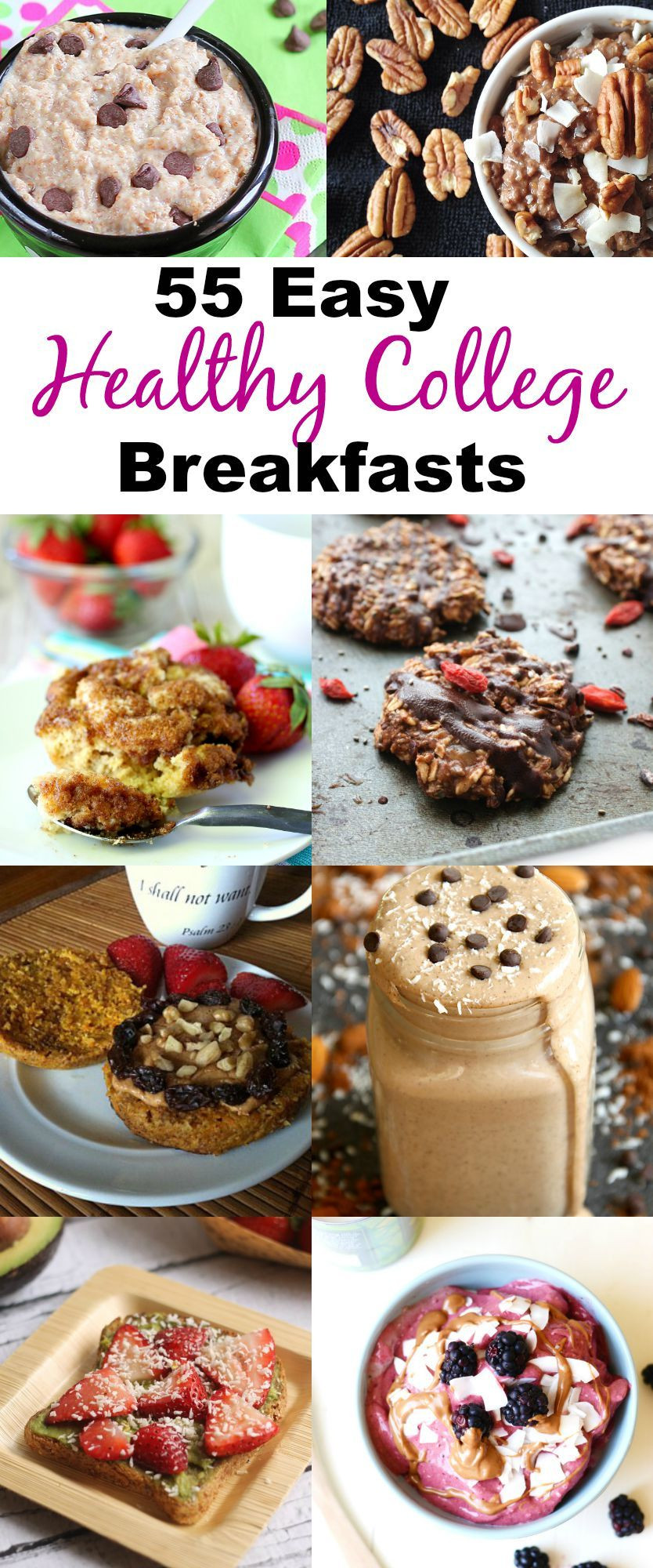 Healthy Breakfast For College Students  55 Healthy College Breakfast Recipes