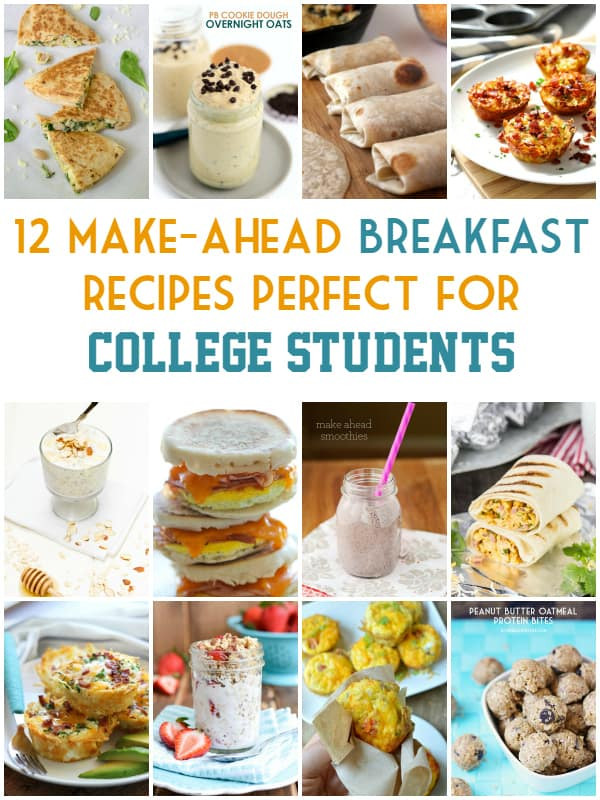Healthy Breakfast For College Students  12 Make Ahead Breakfast Recipes Perfect for College