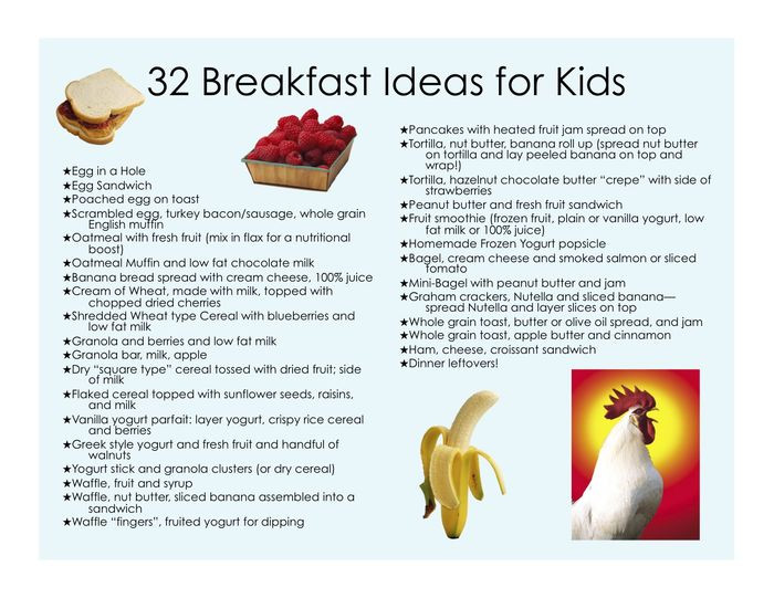 Healthy Breakfast For Group  Healthy Breakfasts for Kids It s All about Balance