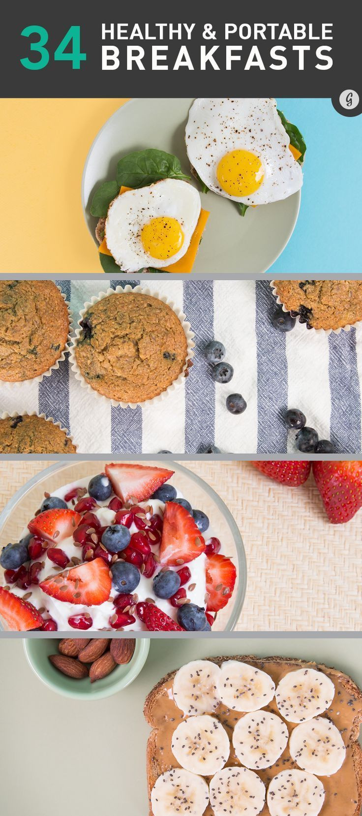 Healthy Breakfast For Runners  39 Healthy Breakfasts for Busy Mornings Pinterest