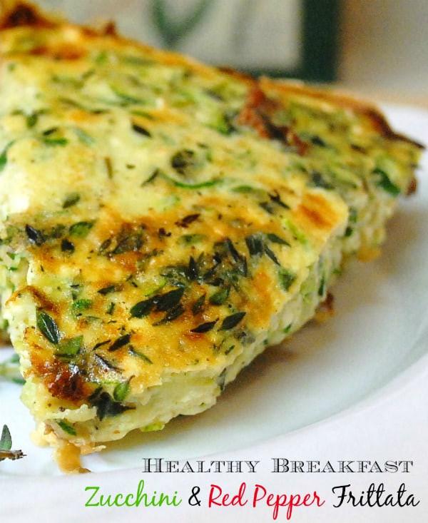 Healthy Breakfast Frittata  Healthy Breakfast Recipe Zucchini & Red Pepper Frittata