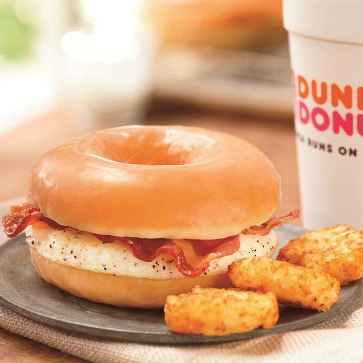 Healthy Breakfast From Dunkin Donuts  Dunkin Donuts launches glazed donut bacon breakfast
