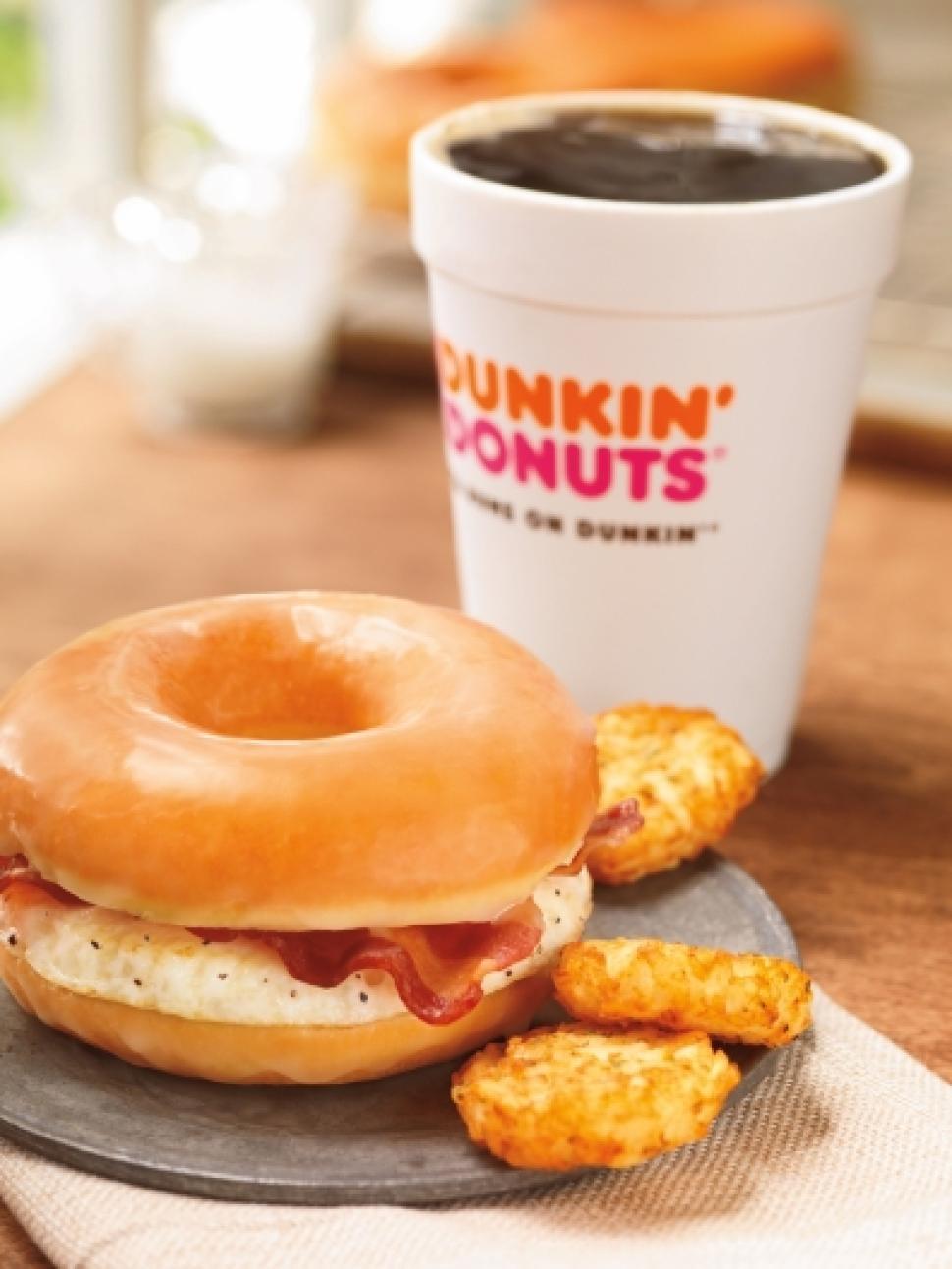 Healthy Breakfast From Dunkin Donuts  Dunkin Donuts adding bacon doughnut breakfast sandwich to