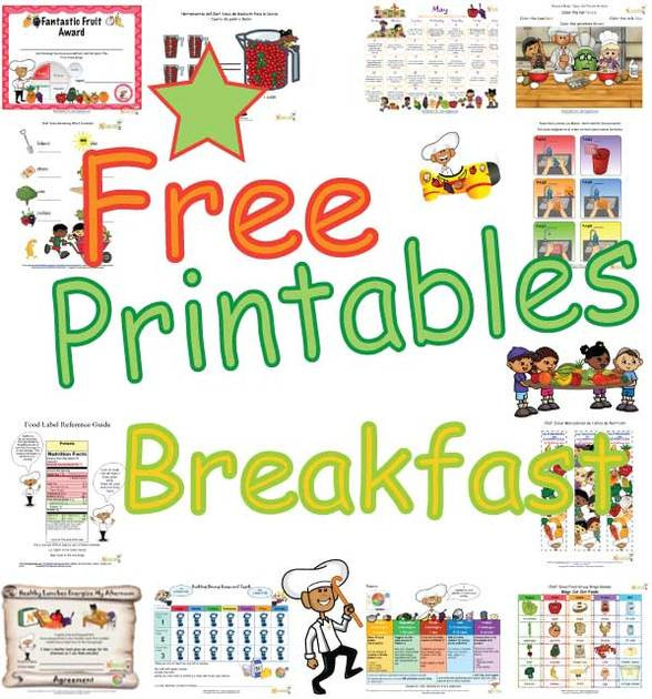 Healthy Breakfast Game  Healthy Breakfast Printables Teaching Children The