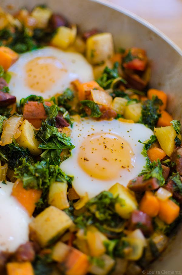 Healthy Breakfast Hash  Kale and Sweet Potato Hash with Chorizo — Living Lou