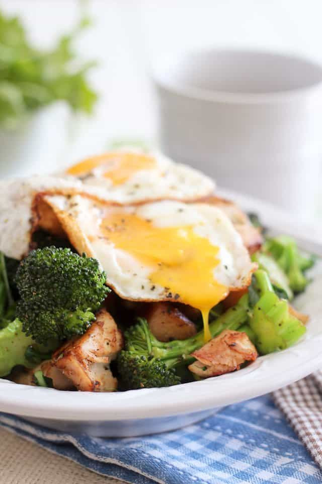 Healthy Breakfast Hash  Turkey Apple and Broccoli Breakfast Hash