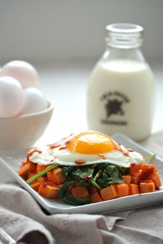 Healthy Breakfast Hash  Easy & Healthy Sweet Potato Spinach Breakfast Hash