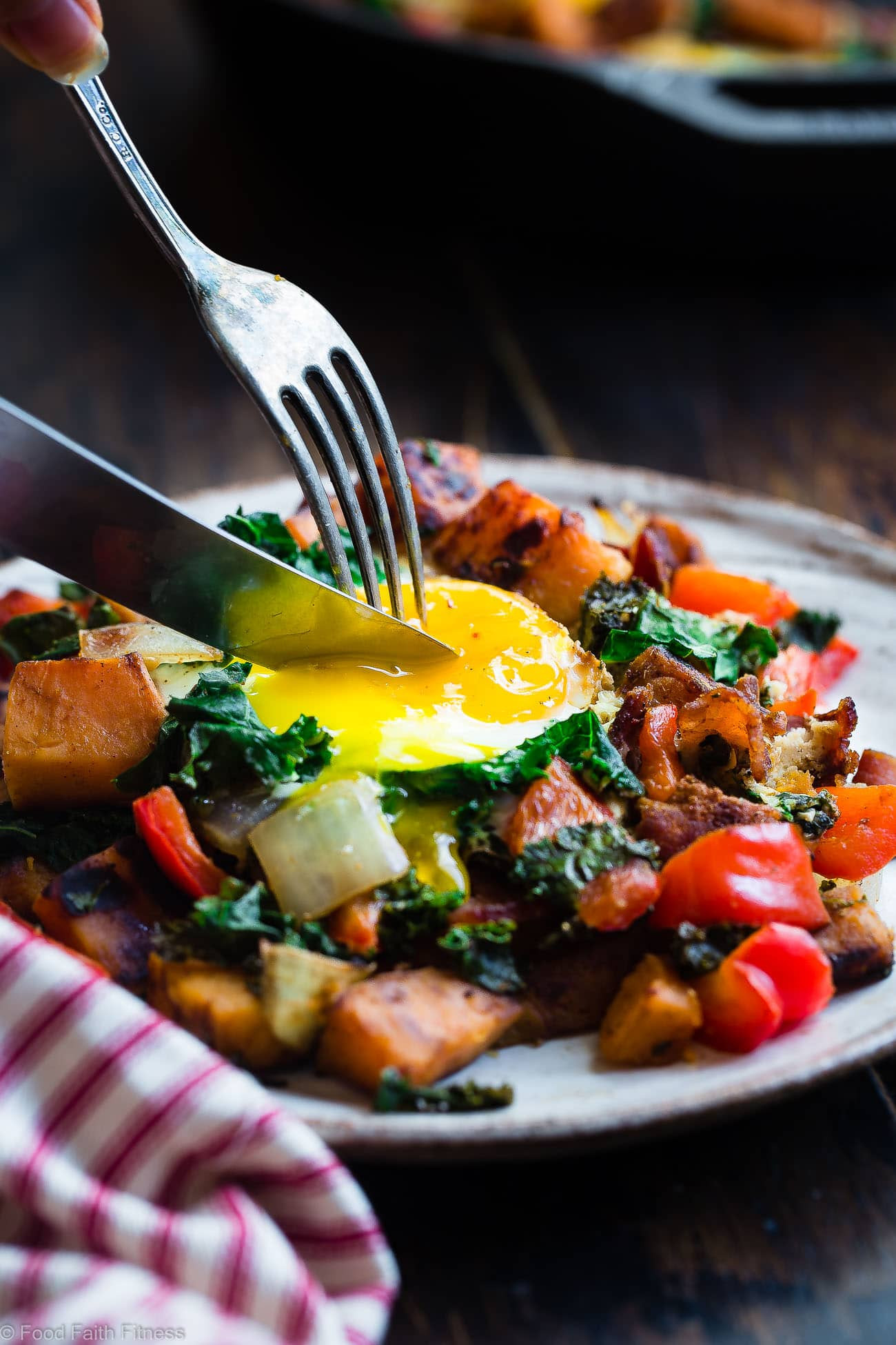 Healthy Breakfast Hash  Breakfast Hash with Squash Kale and Peppers GF Food