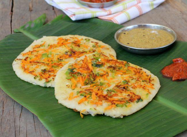Healthy Breakfast Ideas Indian  Oats Uthappam Recipe