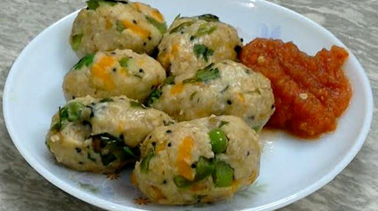 Healthy Breakfast Ideas Indian  Kick start your day with some Oats Veggie Steamed Balls