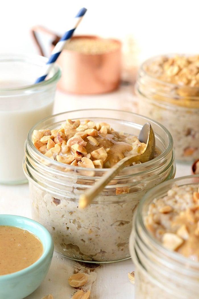 Healthy Breakfast Ideas Without Eggs  Crunchy Peanut Butter Steel Cut Oatmeal