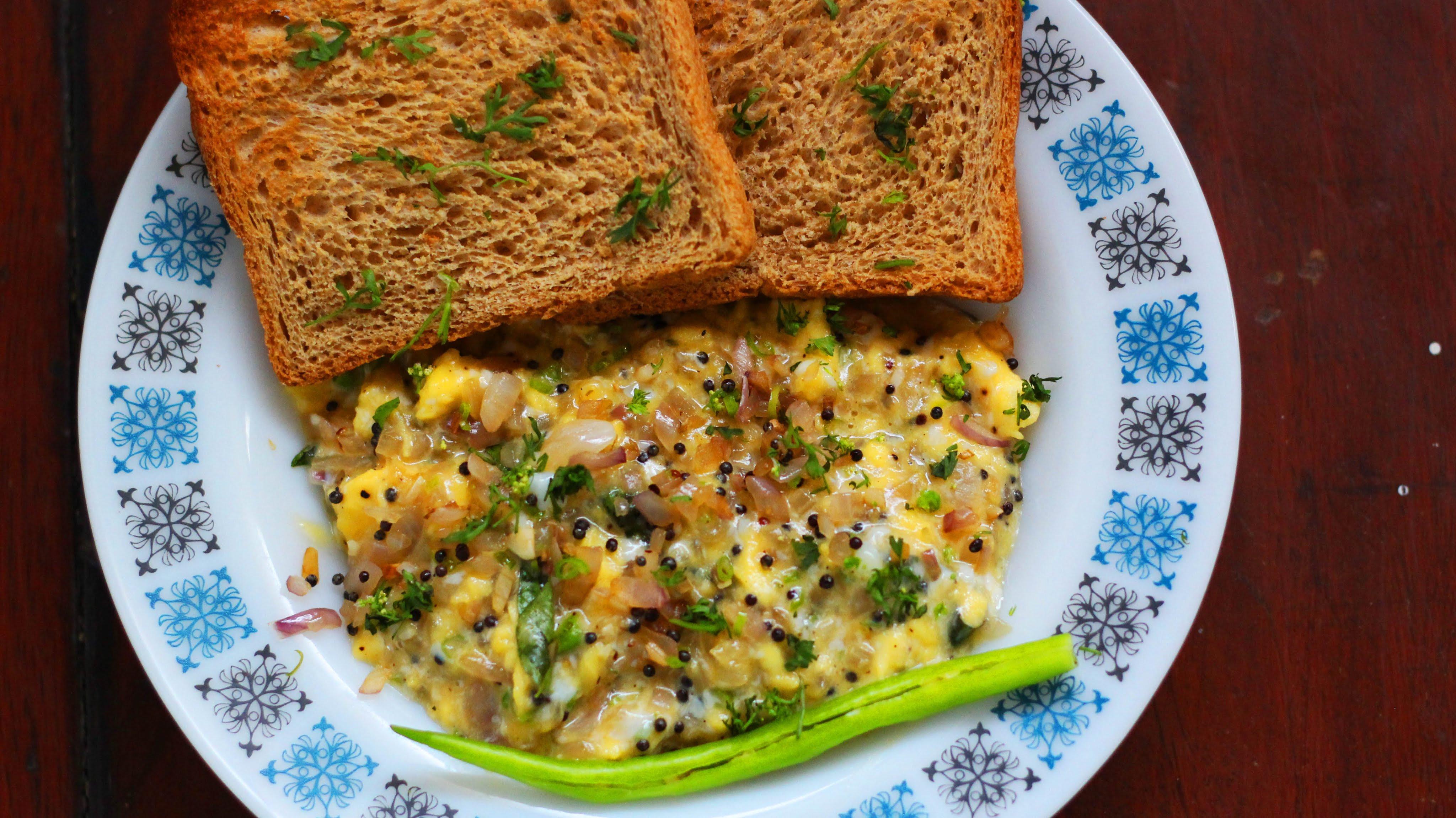 Healthy Breakfast Indian  Monchoso South Indian Egg Bhurji Low fat scrambled