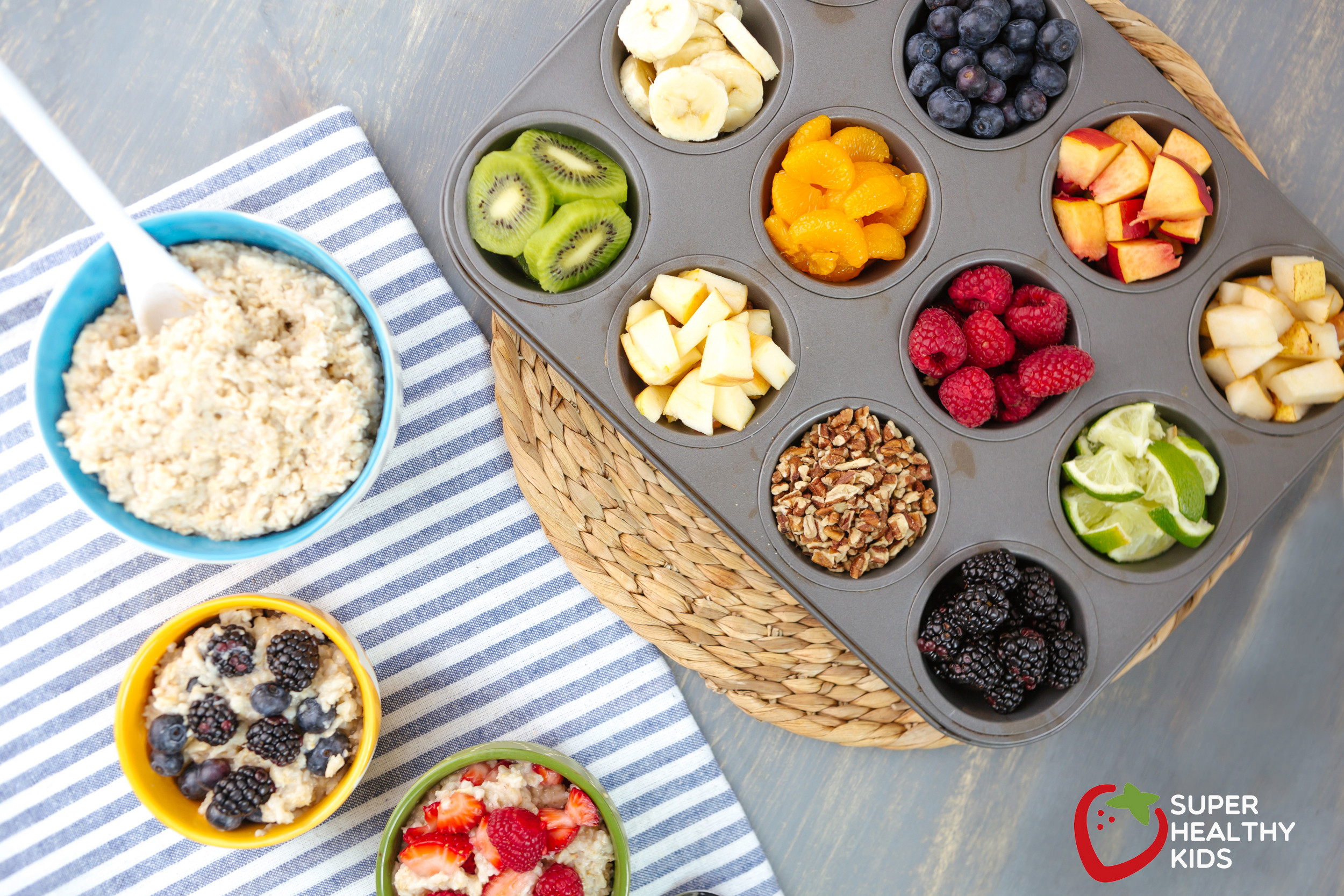 Healthy Breakfast Kids  Rainbow Oatmeal Bar Recipe