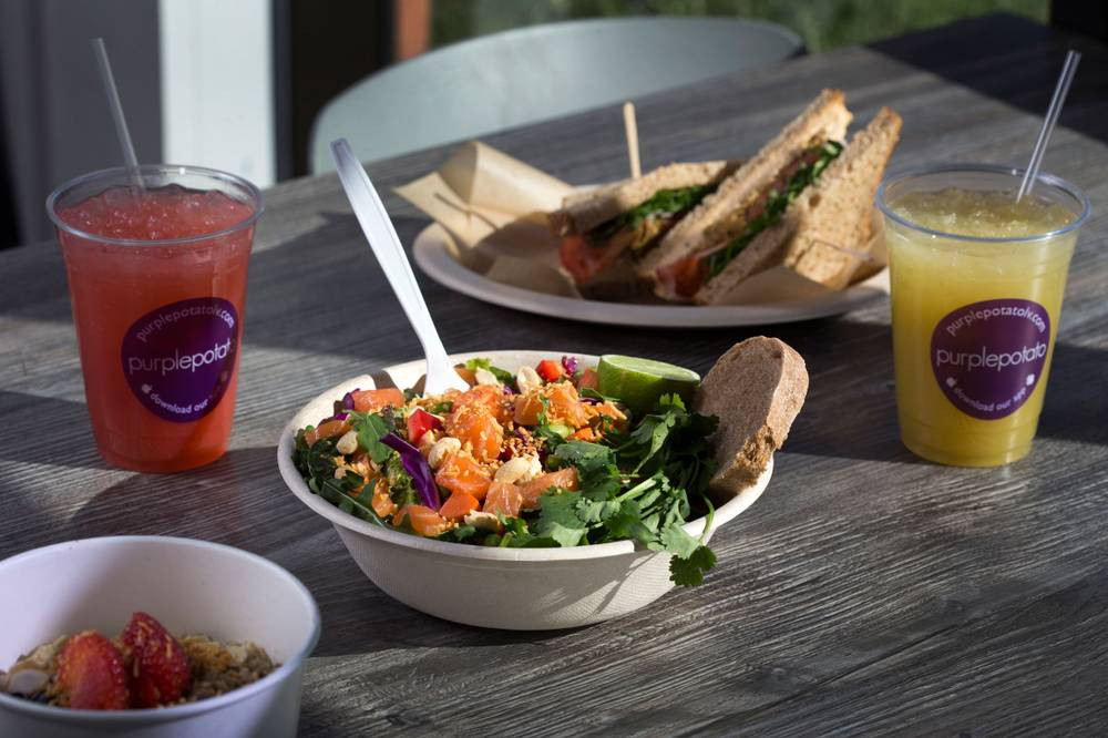 Healthy Breakfast Las Vegas  At Purple Potato eating healthy isn't bland or boring