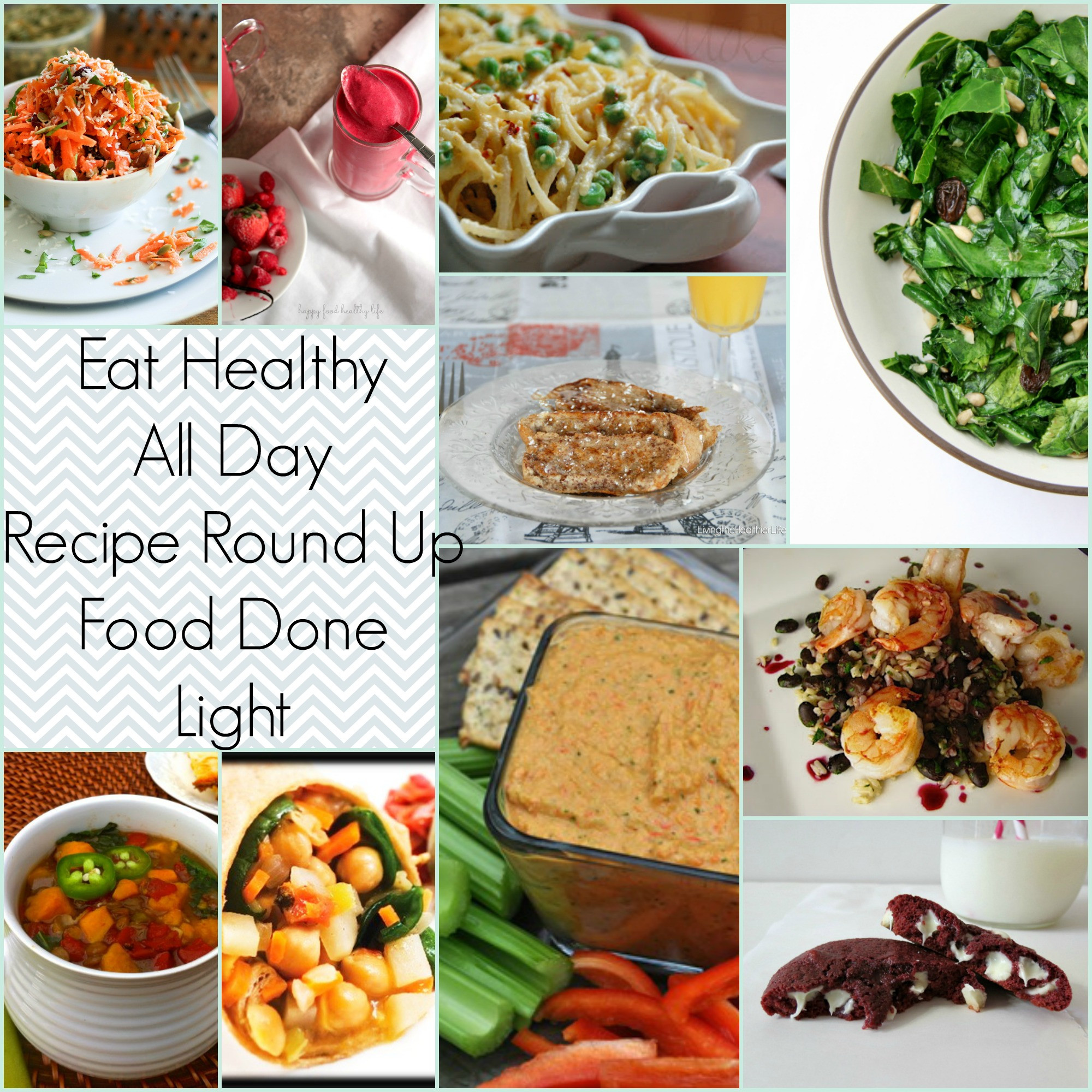 Healthy Breakfast Lunch And Dinner  Eat Healthy All Day Recipe Round Up