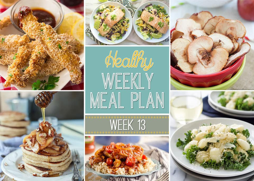 Healthy Breakfast Lunch And Dinner  Healthy Weekly Meal Plan 13 Yummy Healthy Easy