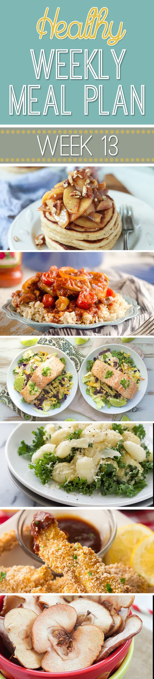 Healthy Breakfast Lunch And Dinner Chart  Healthy Weekly Meal Plan 13 Yummy Healthy Easy