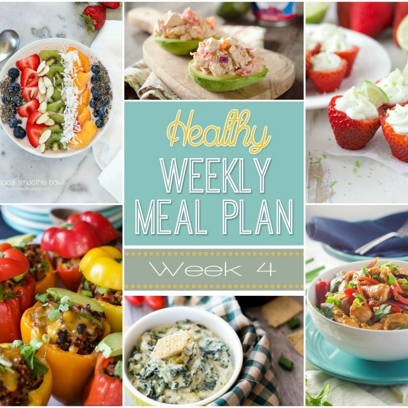 Healthy Breakfast Lunch And Dinner  Healthy Weekly Meal Plan 4 Yummy Healthy Easy