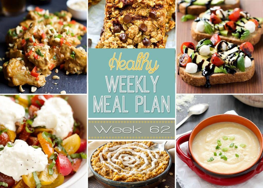 Healthy Breakfast Lunch And Dinner  Healthy Weekly Meal Plan 62 Yummy Healthy Easy