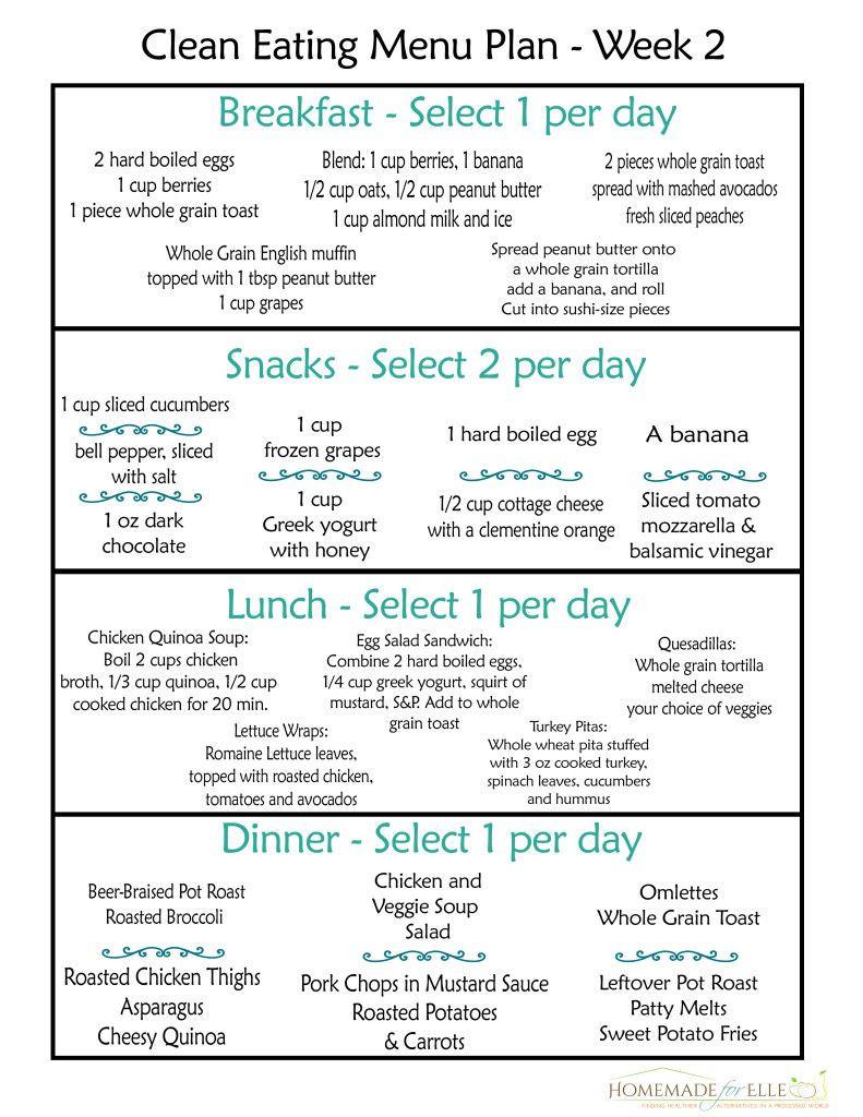 Healthy Breakfast Meal Plan  Clean Eating Meal Plan Free Includes Breakfast