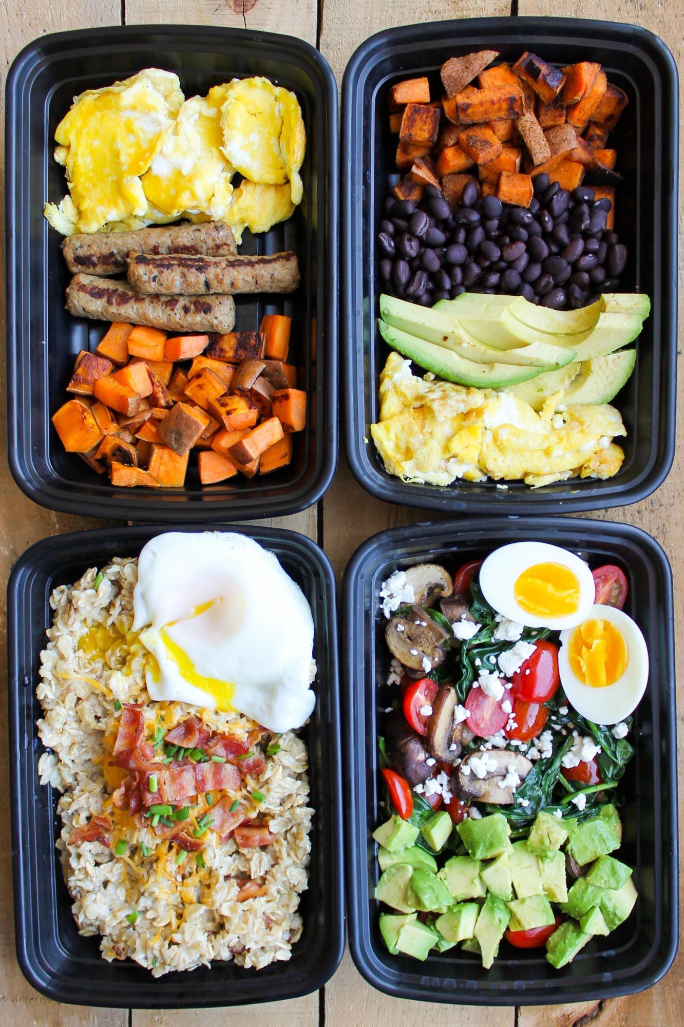 Healthy Breakfast Meal Prep Ideas  Make Ahead Breakfast Meal Prep Bowls 4 Ways Smile Sandwich