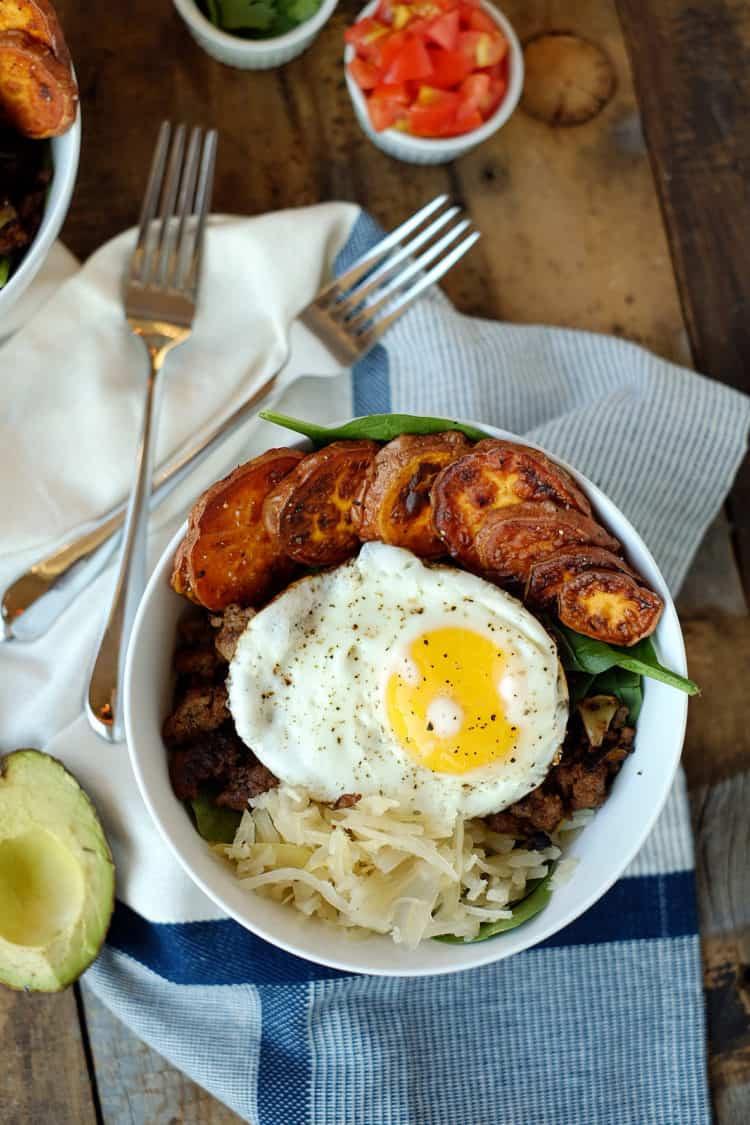 Healthy Breakfast Meat  Taco Breakfast Bowl