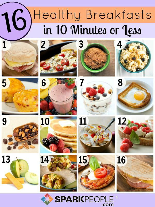 Healthy Breakfast Menu  Quick and Healthy Breakfast Ideas