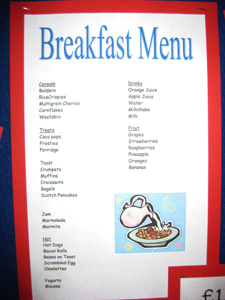 Healthy Breakfast Menu  Healthy Breakfast Menu
