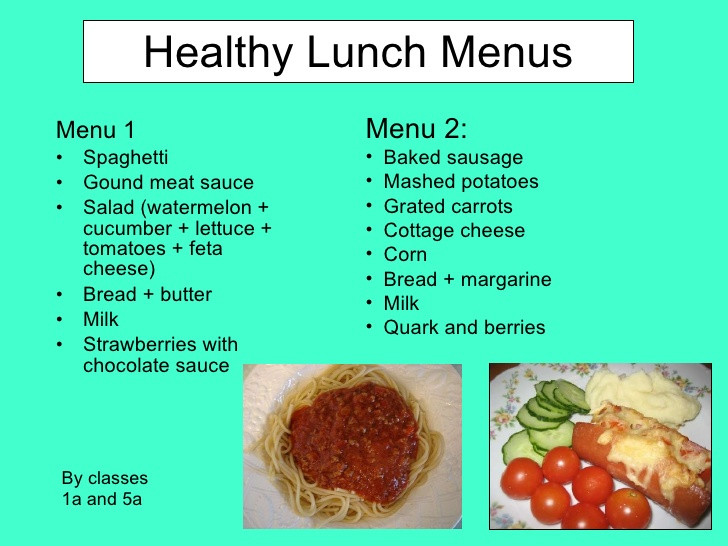 Healthy Breakfast Menu  Healthy Breakfast and Lunch Menus from Finland