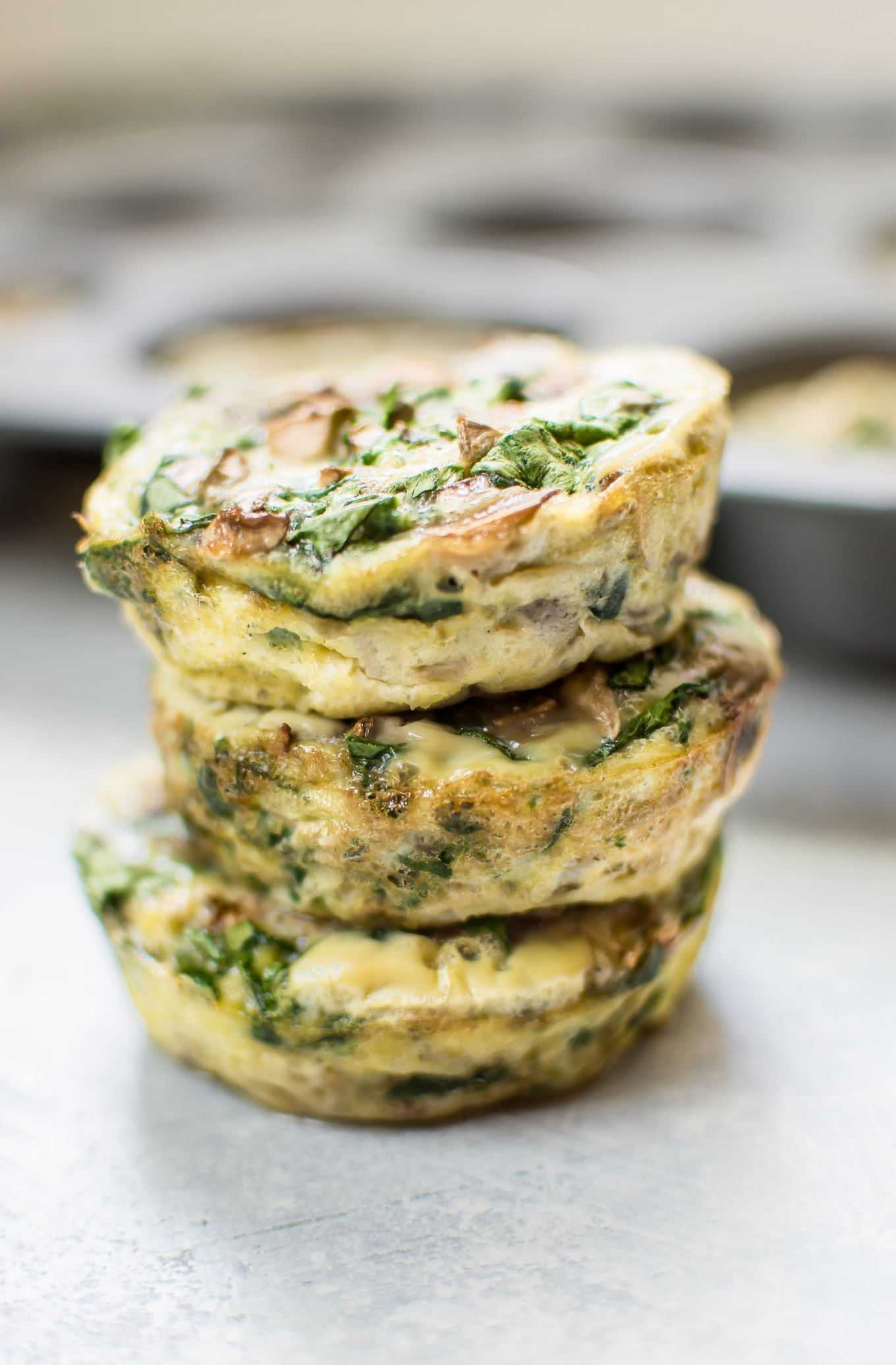 Healthy Breakfast Muffin Cups  Spinach and Mushroom Healthy Breakfast Egg Muffins • Salt