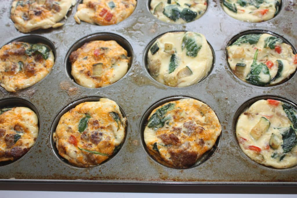 Healthy Breakfast Muffin Cups  Egg Muffin Cups Packed with Ve ables and Sausage