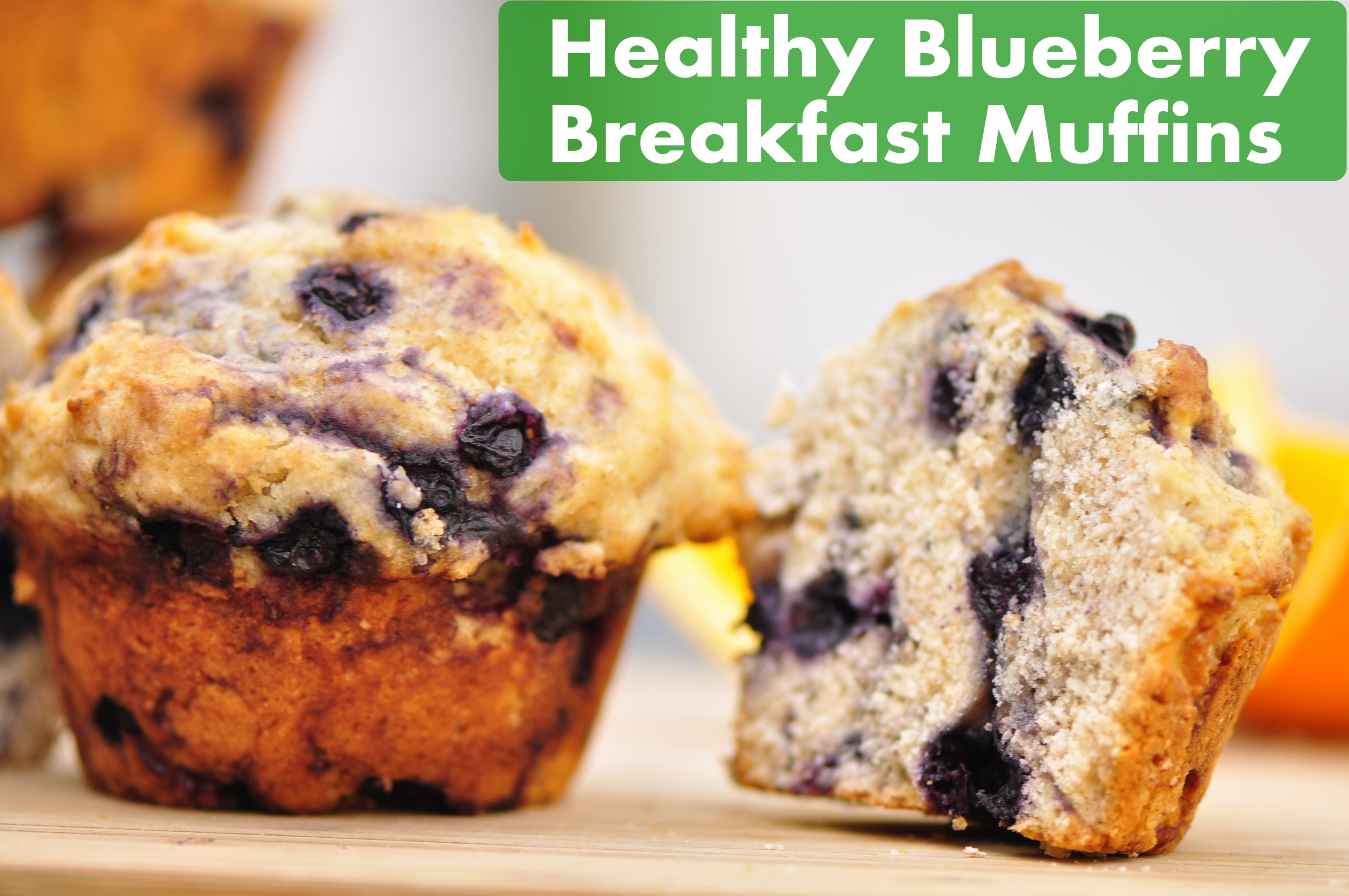 Healthy Breakfast Muffin Recipe  Healthy Blueberry Breakfast Muffins – the ve arian ginger