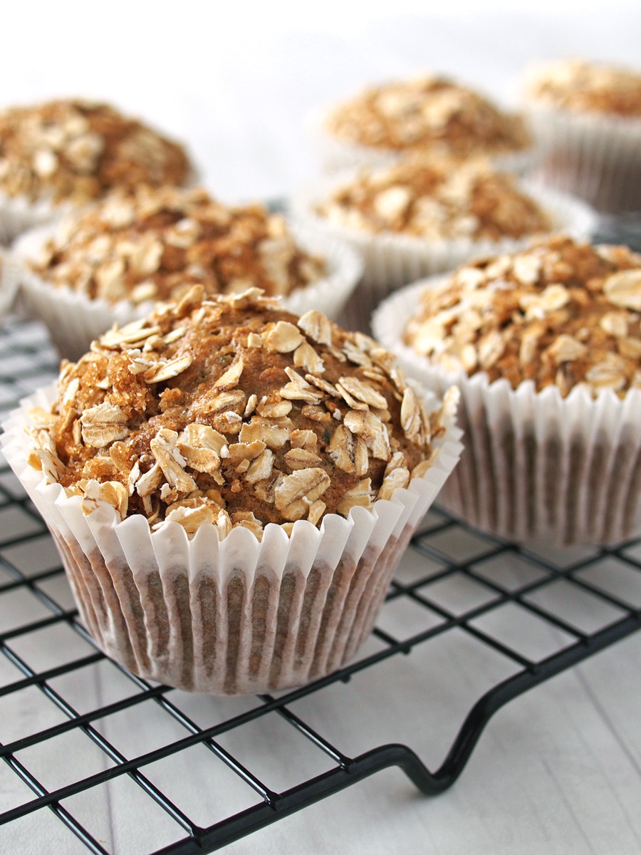 Healthy Breakfast Muffin Recipe  Healthy Breakfast Zucchini and Oat Muffins