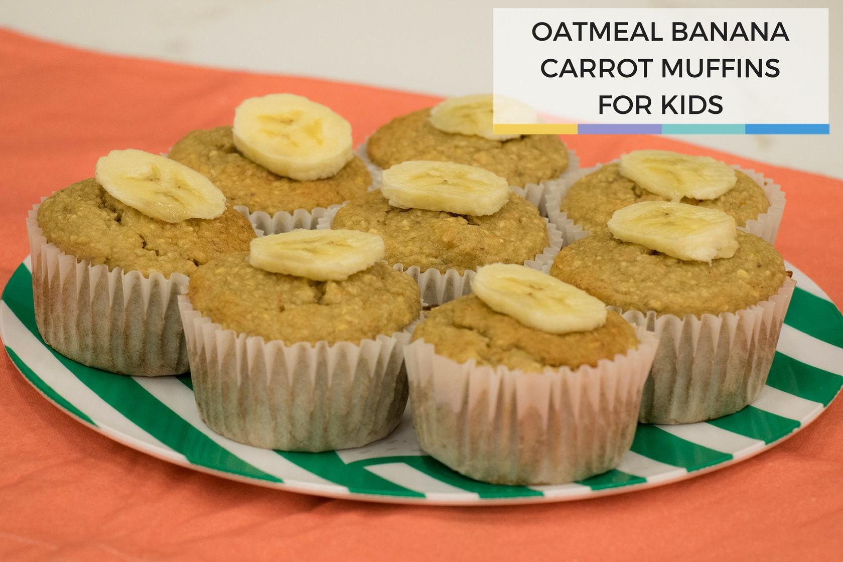 Healthy Breakfast Muffins For Kids  Healthy Kids Breakfast Oatmeal Banana Carrot Muffins