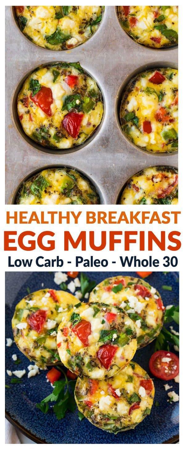 Healthy Breakfast Muffins Low Calorie  Healthy Breakfast Egg Muffins