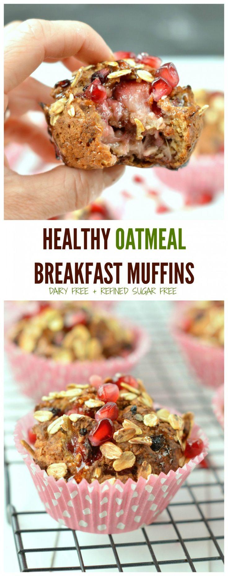 Healthy Breakfast Muffins Recipe  Healthy Oatmeal Breakfast Muffin Recipe
